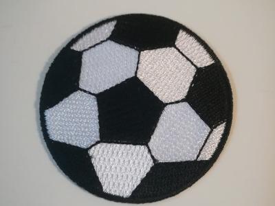Aufbügler Fußball - Schwarz/Weiß