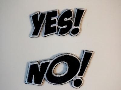 Aufbügler Set: Yes No say yes