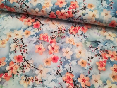 Viscose - Radiance Digitaler Blumenprint 050m