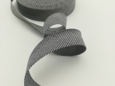 Schrägband Meter schwarz-weiß Hahnentritt cm breites