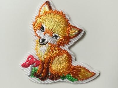 Aufbügler Fuchs mit Fliegenpilz - orange