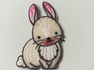 Aufbügler Hase - weiß