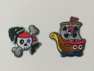 Aufbügler Piraten 1 - weiß