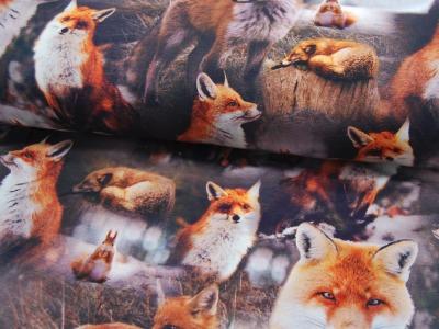 Beschichtete Baumwolle - Graphisches Muster in Senf 50 x75 cm