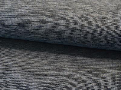 Jacquard-Jersey - Chevron - weiß/dunkelblau -
