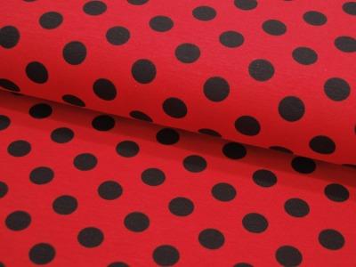 Jersey Dot Red Black Schwarze Punkte