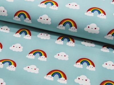 Softshell Regenbogen und Wolken auf Mint