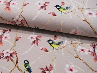 REST Jersey DIGITAL Blumen und Vögel
