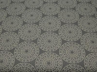 Beschichtete Baumwolle - Ornamente Dunkelgrau/Weiß 50x65 cm