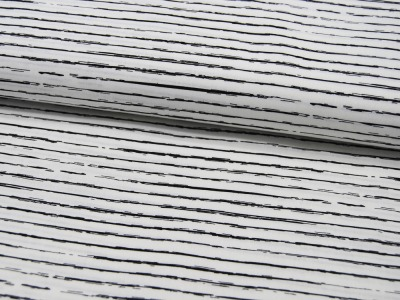 Blau-Weiß gestreifte Baumwolle 05 meter