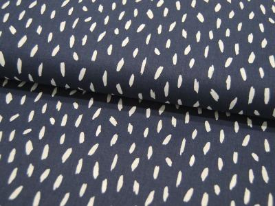 Baumwolle Stripes Kleine Streifen auf Dunkelblau
