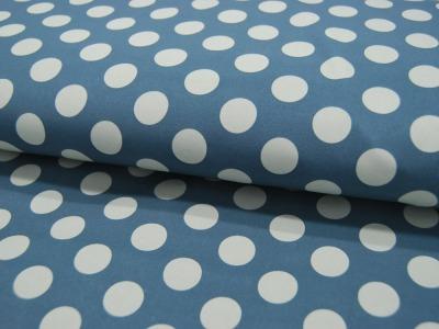 Softshell Dots Hellblau auf mattes Jeansblau