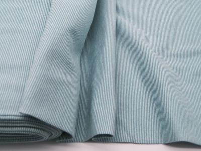 Bündchen Ringelbündchen Mint-Weiß cm im Schlauch