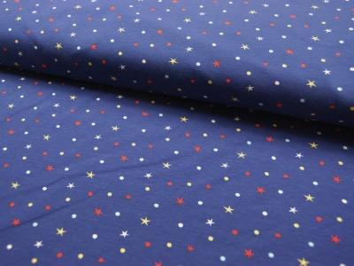 Jersey - Punkte und Sterne auf Blau - 0,5 Meter