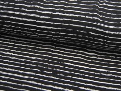 Jersey - Streifen in Schwarz-Weiß -