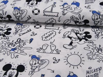 Baumwolle Mickey Mouse und Donald Maritim