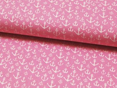 Baumwolle - Ankermix auf Rosa Pink 0,5m