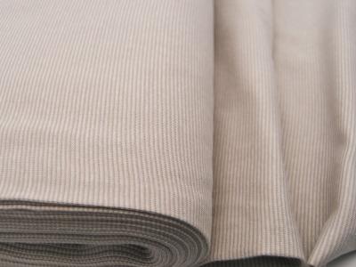 Bündchen Ringelbündchen Beige-Weiß cm im Schlauch