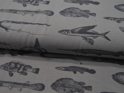 Jersey Fische auf Grau von Mies