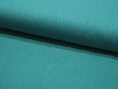 Baumwolle Uni Cyan Zyan Blaugrün Meter