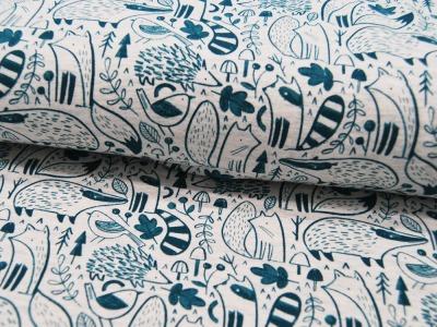 Beschichtete Baumwolle - Blumenmuster - 50 x 70 cm