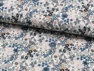 Baumwolle Digital Flowers Blumenwiese Grüntöne leichte