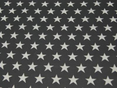 Beschichtete Baumwolle - Sterne auf Dunkelgrau 50x70 cm
