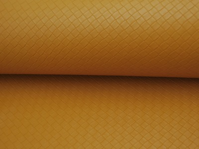 Kunstleder Square Graphisches Muster in Senf