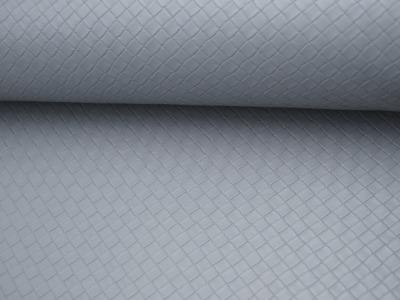 Kunstleder Square Graphisches Muster in Grau