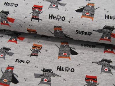 Beschichtete Baumwolle - Anker auf Grau 50 x72 cm