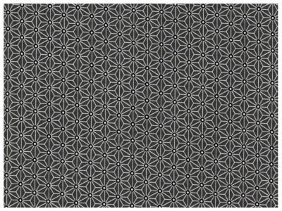 Beschichtete Baumwolle Asanoha Dunkelgrau / Schwarz 50 x 76 cm