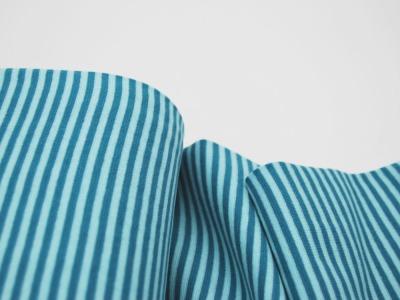 Bündchen Ringelbündchen Hellblau-Petrol cm im Schlauch