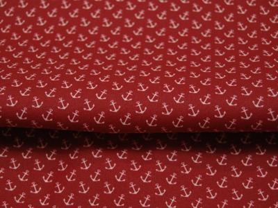 Beschichtete Baumwolle - Anker auf Rot 50 x72 cm