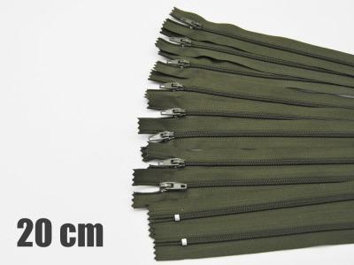 20cm Olivegrüne Reißverschlüsse Reißverschlüße im Setsonderpreis