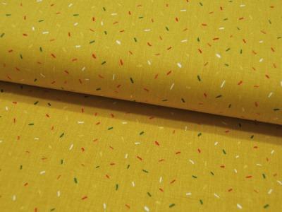 Magic Circus Strichmuster auf Gelb Baumwolle