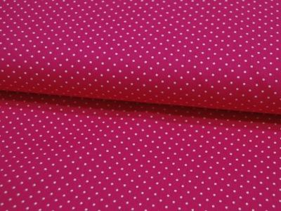 Petit Dots auf Pink - Baumwolle
