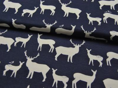 Jersey - BIO - Birch - Rehe und Hirsche - 0.5m - Oranic Cotton - zertifizierte BIO Baumwolle