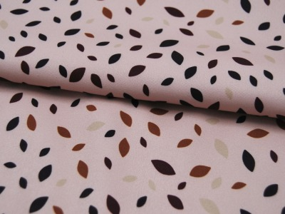 Musselin/Double Gauze LITTLE DOTS Helles Blau