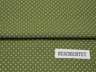 Beschichtete Baumwolle Petit Dots auf Grün