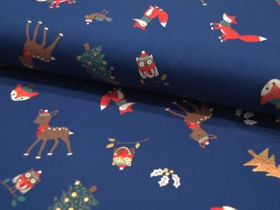 Jersey Christmas Animals Weihnachtliche Tiere mit