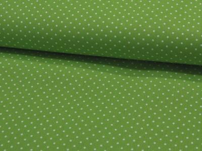 Petit Dots auf Limettengrün - Baumwolle