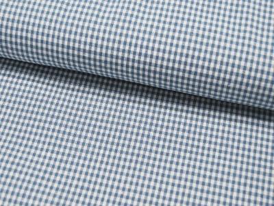 kleines Karo Jeansblau - Baumwolle 05