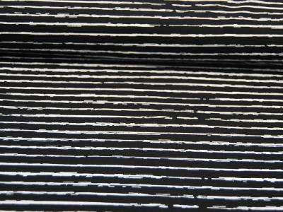 Baumwolle - Weiße Streifen auf Schwarz