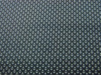 Beschichtete Baumwolle Anker auf Nachtblau 50x70 cm
