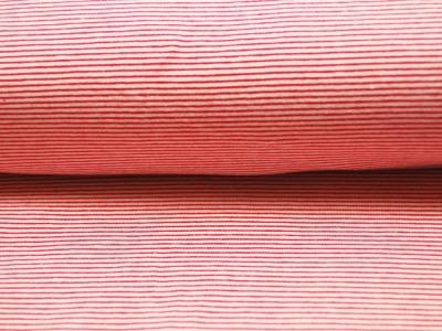 Jersey - Streifen Rot - Weiss - 0.5 Meter