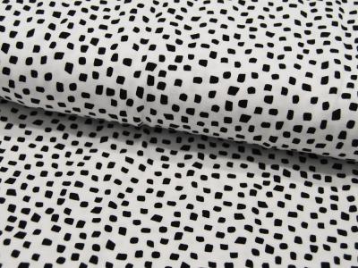 Jersey GOTS SHAPES Schwarz auf Weiß