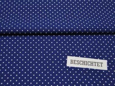 Beschichtete Baumwolle Petit Dots auf Mittelblau