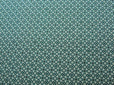 Beschichtete Baumwolle - Graphisches Muster in Petrol-Anthrazit - 50 x 73 cm