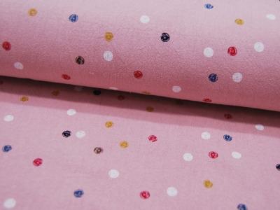 Baumwolle Punkte auf Rosa gekochte Baumwolle