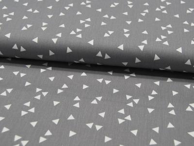Triangle Dreiecke auf Grau Baumwolle 050m